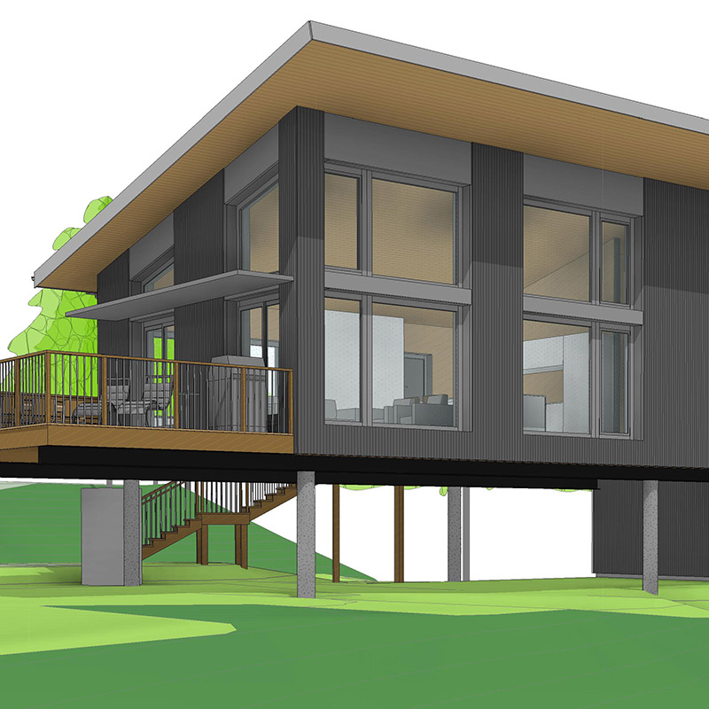 Passive House on Stilts