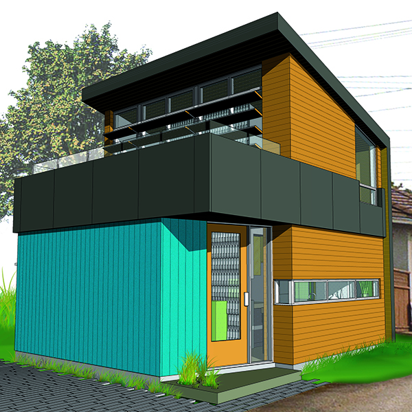 Ridiculously Small (eco-) Footprint Laneway House